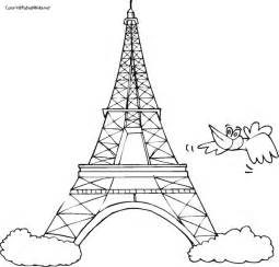 eiffel tower coloring sheets eiffel tower coloring pages bestofcoloring