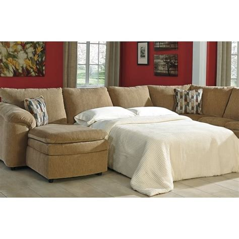 ashley sectional sleeper ashley coats 5 piece fabric reclining sleeper sectional in