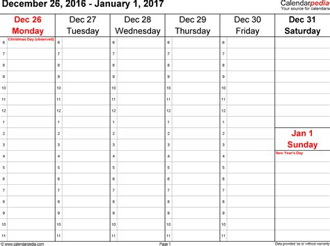 Kalender 2018 One Stop Weekly Calendar 2017 For Pdf 12 Free Printable Templates