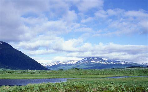 California Christmas Lights Alaskan Landscape Desktop Wallpaper