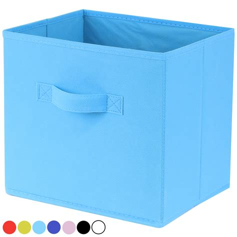 hartleys folding collapsible fabric storage box cube