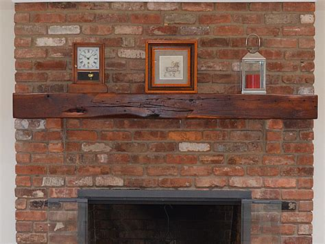 mantel brick fireplace reclaimed brick reclaimed cherry fireplace mantel with scarf joint