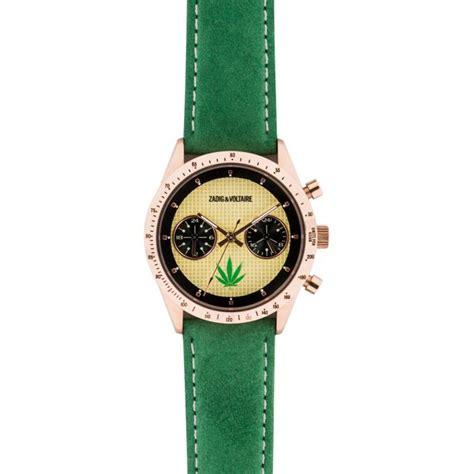 montre zadig et voltaire master zvm111 montre verte cuir femme sur bijourama montre femme