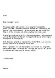 Copy Of A Letter Of Resignation by Letter Of Resignation Keeping Your Career On Track