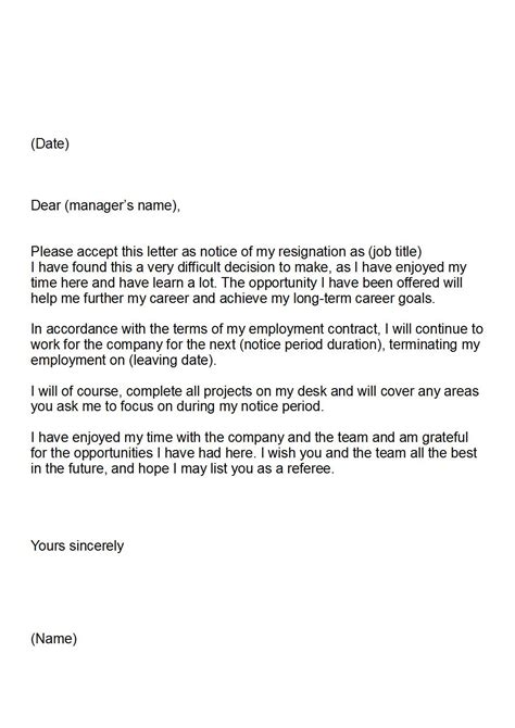 Resignation Letter Sle Copy Letter Of Resignation Keeping Your Career On Track