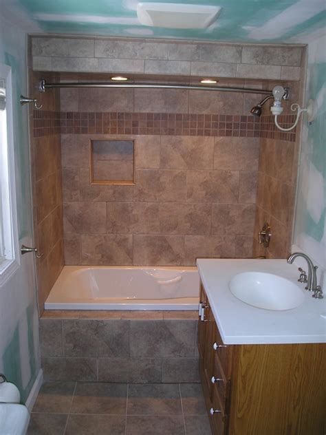 bathroom tub to shower remodel pictures of shower and tub combination remodel ideas