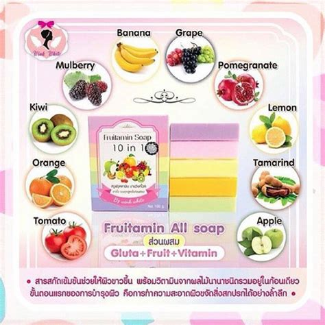 Sabun Fruitamin Pemutih Fruitamin Soap By Wink White Original fruitamin soap by wink white sabun pemutih badan