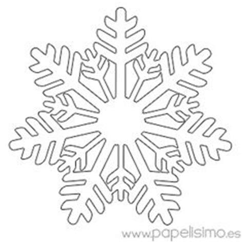 plantilla copos navidad dibujos para colorear de copos de nieve en navidad