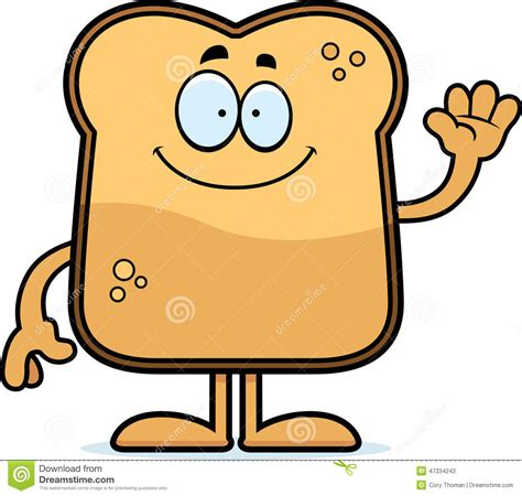 Buttered Bread In Toaster Cartoon Toast Waving Stock Vector Image Of Smiling Wave