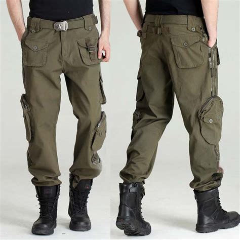 Multi Pocket Casual Sport Cargo Katun Grey Cln 965 2015 new s trousers camouflage plus size multi pocket casual sports
