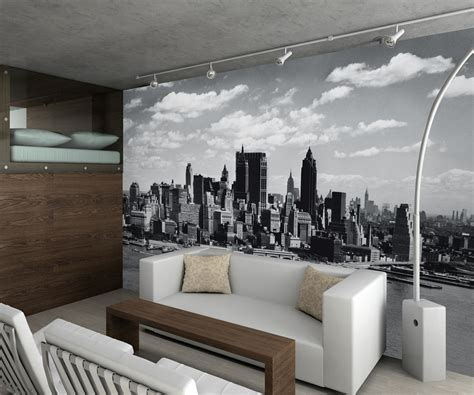 new york wall mural new york city black and white mural