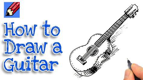 easy guitar book sketch how to draw a guitar real easy spoken tutorial