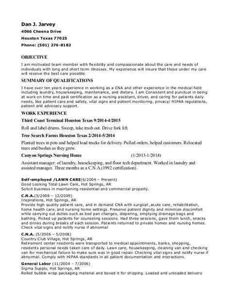 resume objective exles for veterans c n a va hospital resume