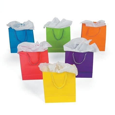 craft bags for 1 dz paper gift bags medium 9 inch 12 per order bright