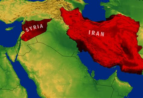 map of iran and syria iran doesn t need a bomb the american conservative