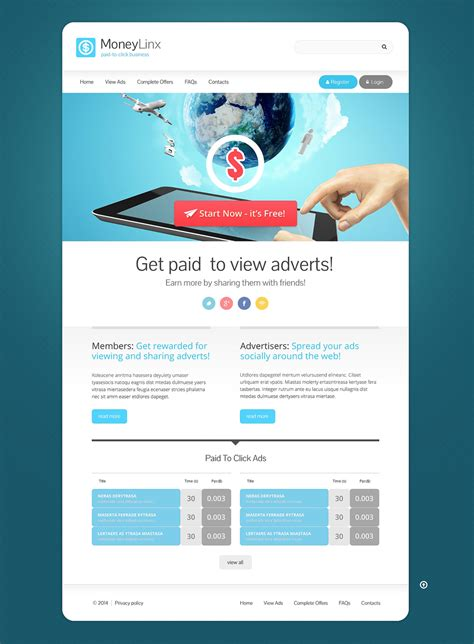 Financial Advisor Responsive Website Template 49115 Best Template Based Website Builder