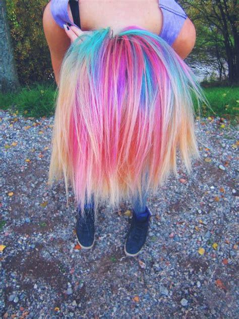 cute hairstyles rainbow hair color donalovehair
