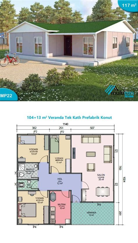 two bedroom hall kitchen house plans mp22 104m2 13m2 3 bedrooms 2 bathrooms separate