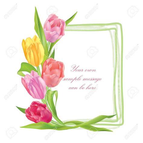 clip fiori tulip clipart flower boarder pencil and in color tulip