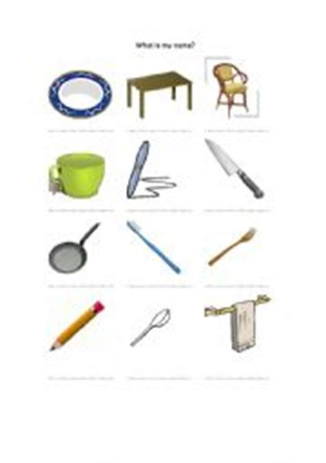home things english worksheets things used at home