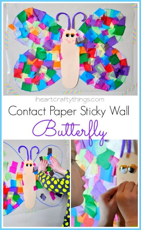 Contact Paper Craft Ideas - contact paper butterfly craft new decorating ideas