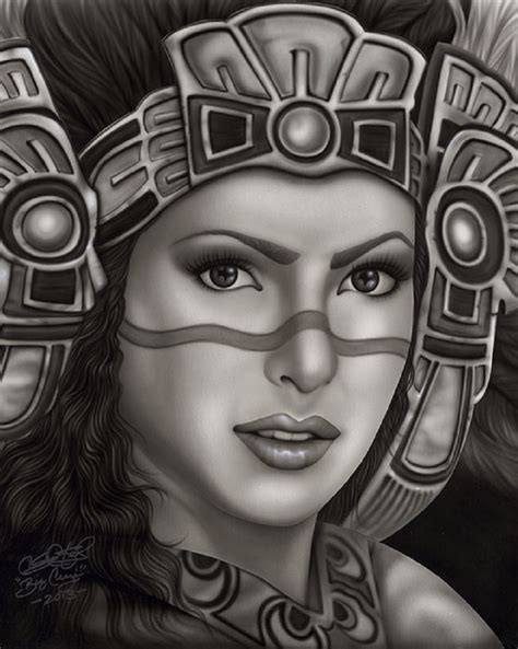 aztec princess by big ceeze mexican woman w headdress