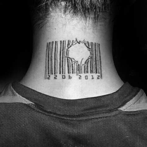 tattoo barcode neck 30 barcode tattoo designs for men parallel line ink ideas