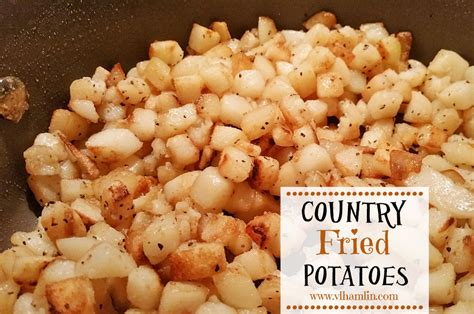 country fried potatoes food life design