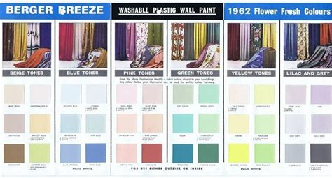 mid century modern paint colors 1962 berger jpeg 678 215 366 atomic age color palettes