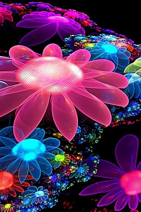 wallpaper for mobile colorful flower 3d animated flowers