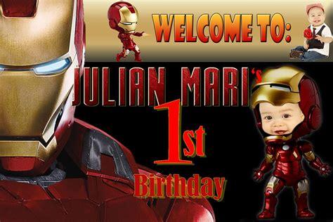 jians st birthday ironman tarpaulin cebu balloons