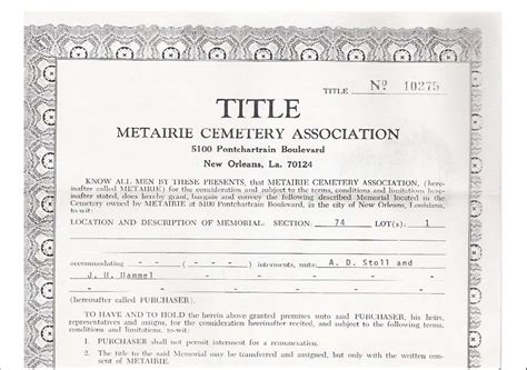 funeral phlet template funeral phlet templates free title to metairie cemetery to