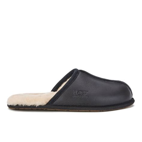 black mens ugg slippers ugg s scuff leather sheepskin slippers black free