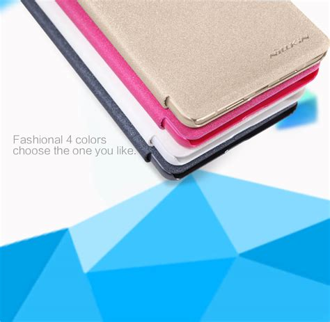Nillkin Sparkle Leather Oppo R7s Flip Cover nillkin sparkle series new leather for oppo r7s oppo r7st
