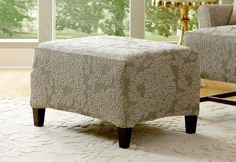 Slipcover For Chair And Ottoman Turn Over A New Leaf These Velvet Jacquard Leaves Are A