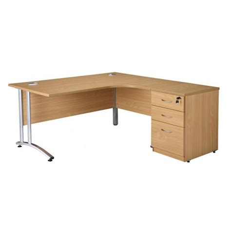 cantilever radial desk with cable management corner desk