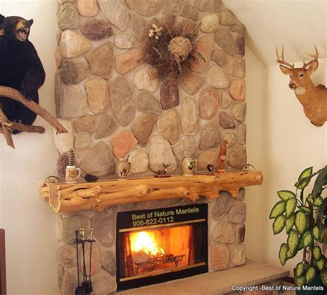 cedar mantle for great room fireplace loving our log