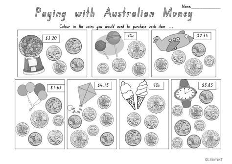 australian money worksheets maths worksheets for year 2 australia free maths