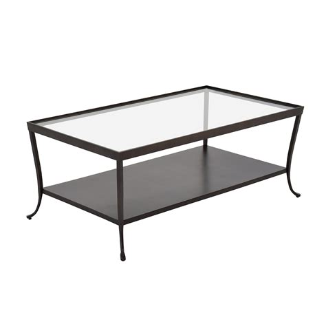 84 Off Metal Base With Glass Top Coffee Table Tables Base For Glass Top Coffee Table