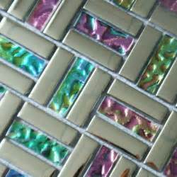 Plum Colored Bathroom Accessories - glass mosaic backsplash tiles silver iridescent tile metal coating tile crystal mosaic wall
