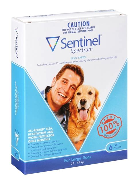 sentinel spectrum for dogs sentinel spectrum tasty chews for large dogs 22 45kg 50 100lbs 6 pack ourpetworld net