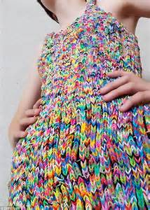 Dress Onde Rainbow dress made from 24k loom bands sells on ebay for 163 170k daily mail