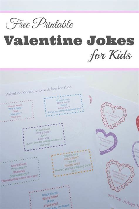 Best Printable Jokes | 17 best images about holiday valentine s day on
