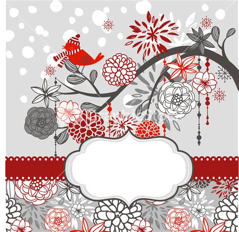 1 birthday card template winter card template a winter branch with a bird and