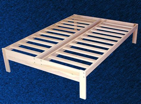 New Solid Wood Platform Bed Frame Full Double Size Ebay Size Bed Platform Frame