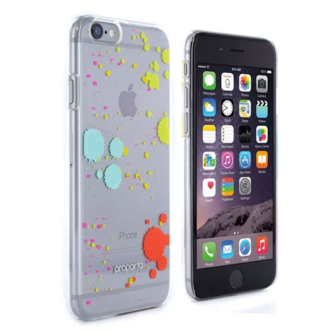 iphone 6 6s cover clear with multicolored splatter paint proporta