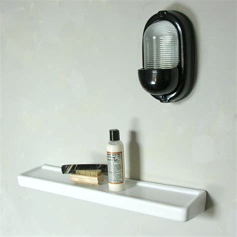 long bathroom shelf white ceramic