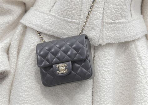 chanel mini classic flap bag in black and silver hardware