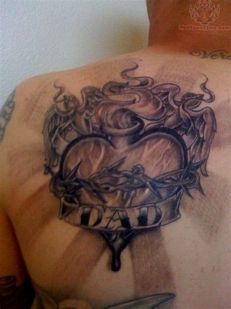 sacred heart tattoo my sacred on back shoulder