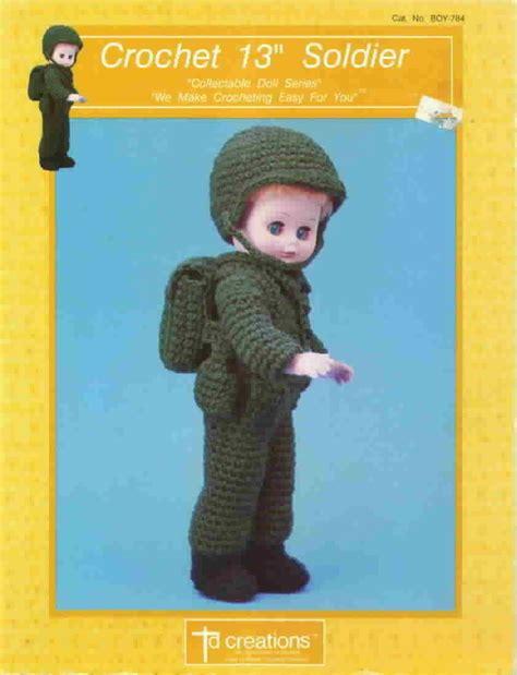 td fashion dolls td creations crochet 13 inch soldier fashion doll